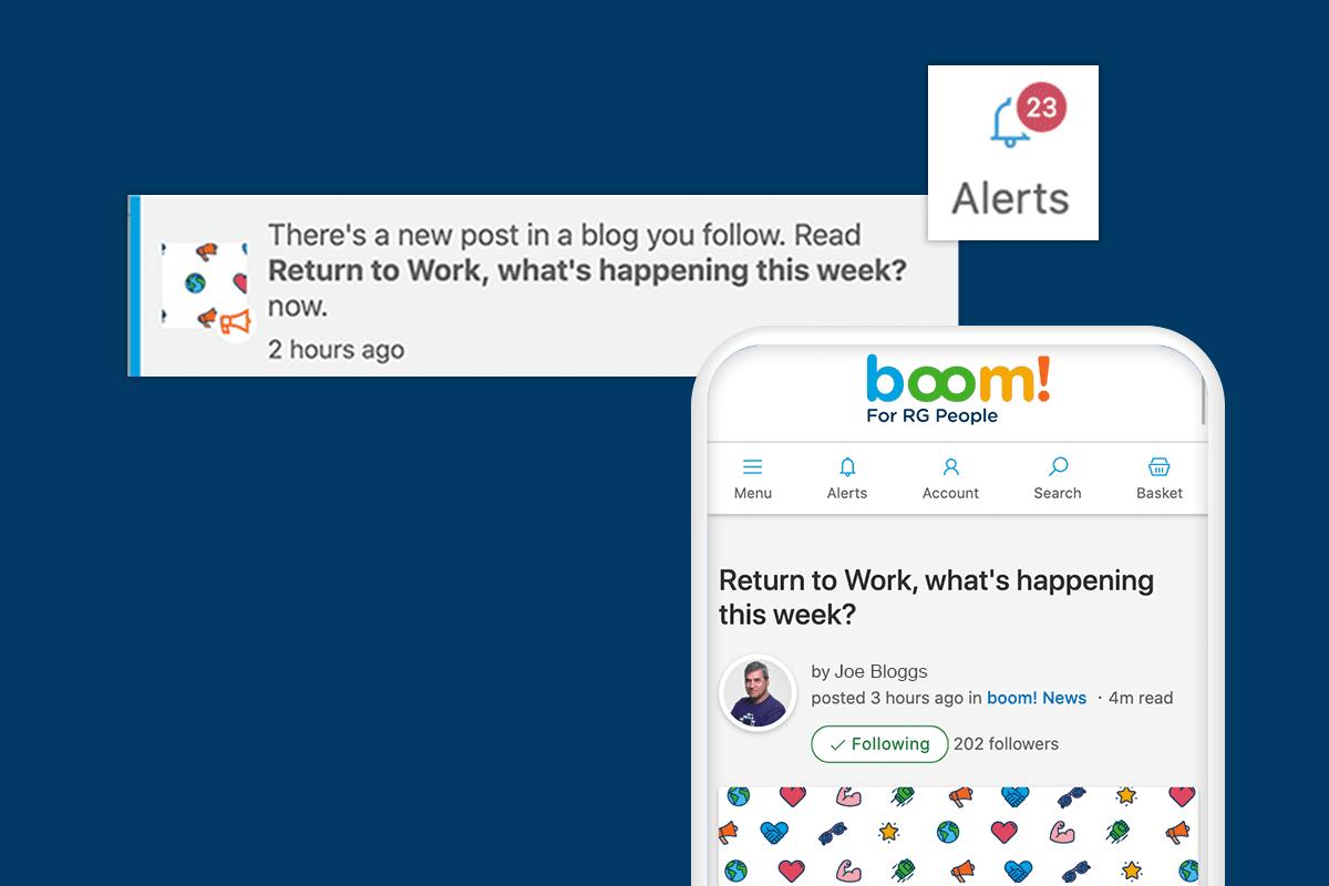 Company blog example