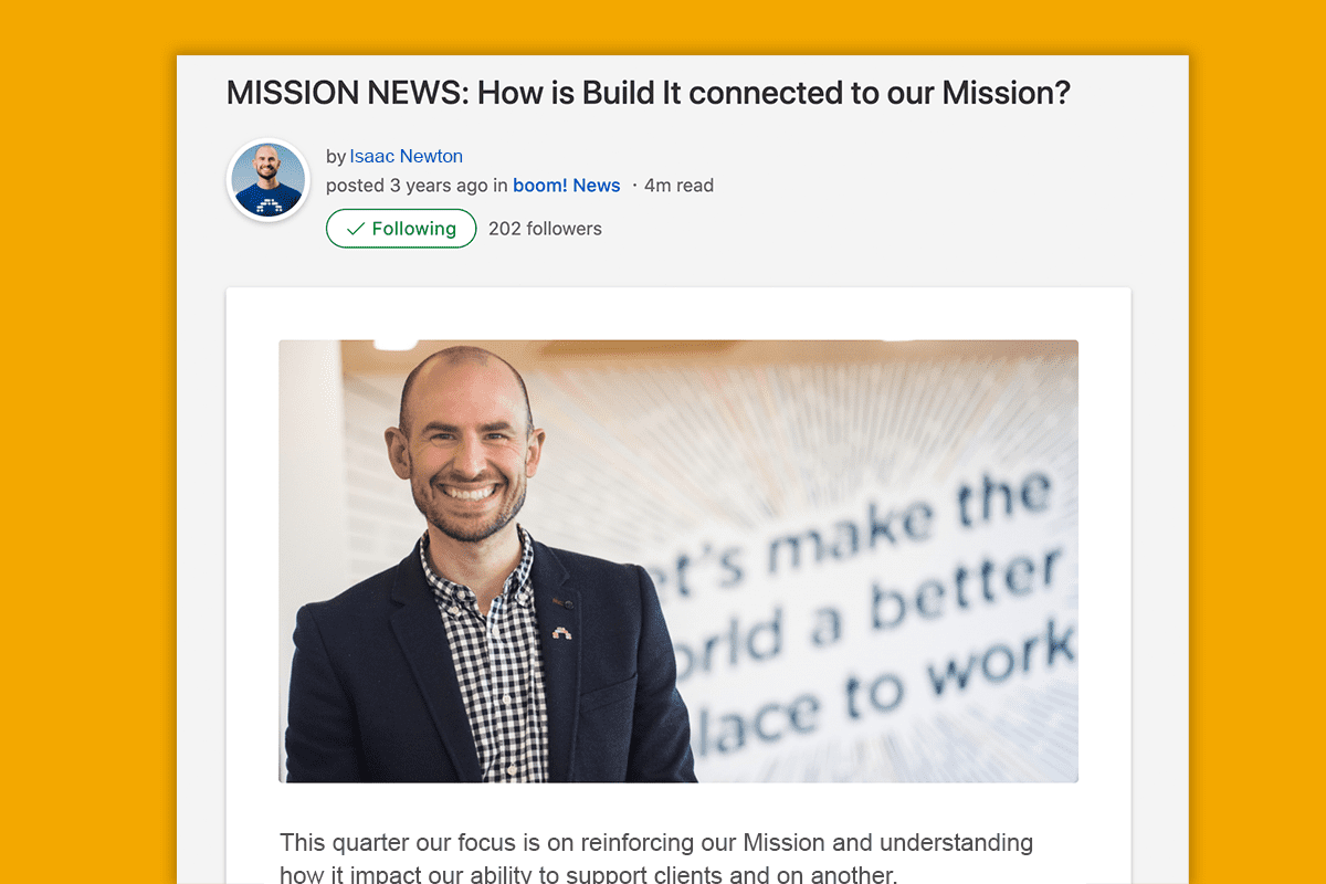 connecting employees to mission