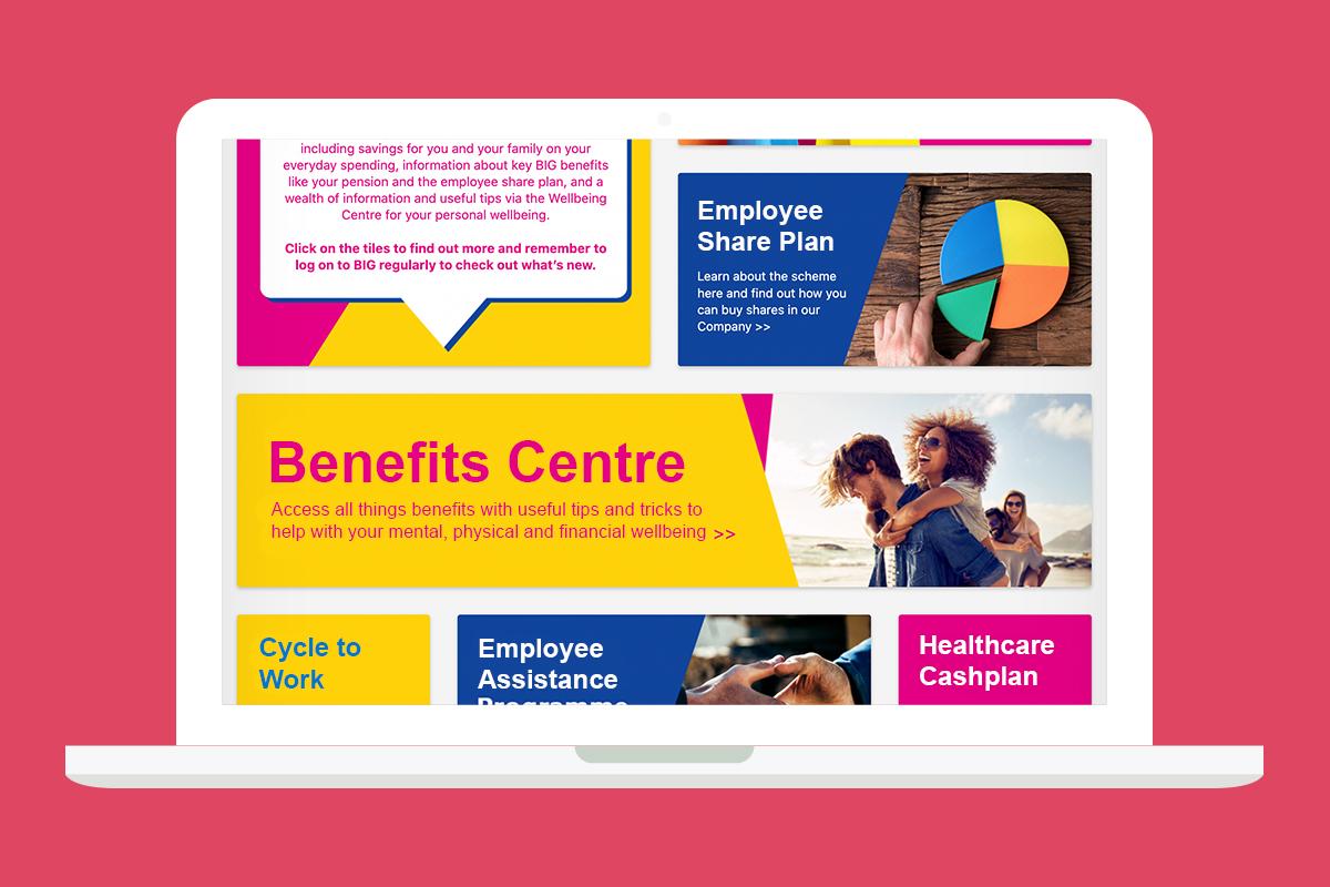 benefits centre example