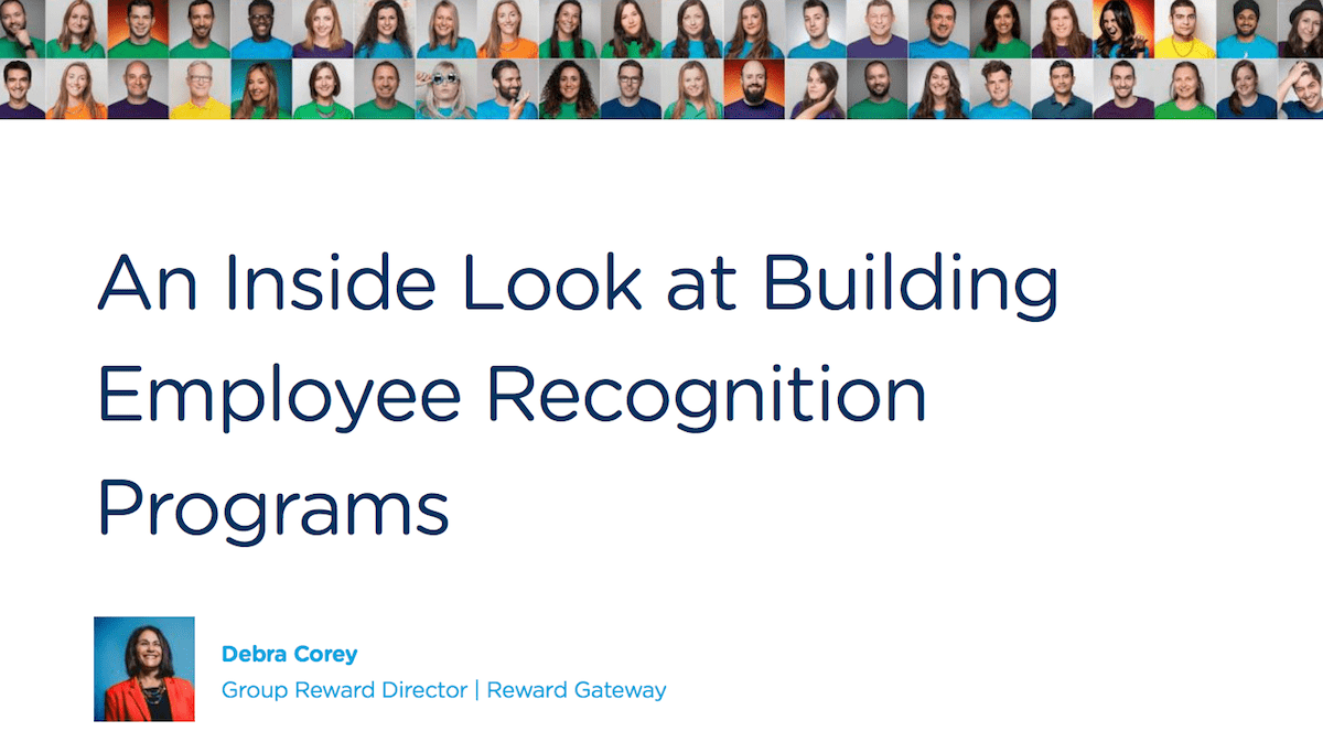 How to build a recognition program