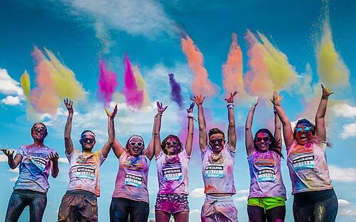 Colour Run 2015 Georgie Haslett Harriet Truman Perdie Alder Rhys Kirby Jess Telford George Dixon  (102 of 3)-Edit