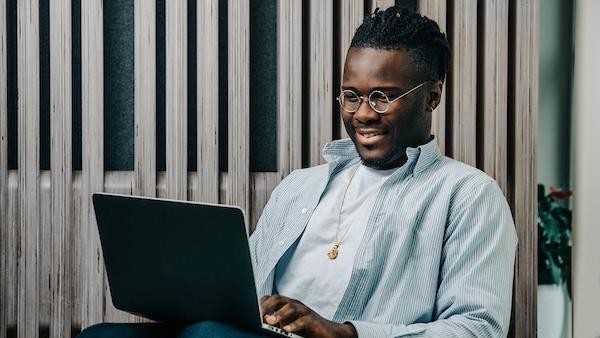 employee using computer