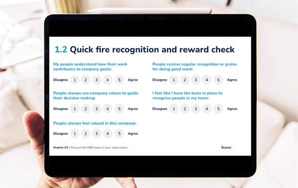 reward and recognition pulse survey example