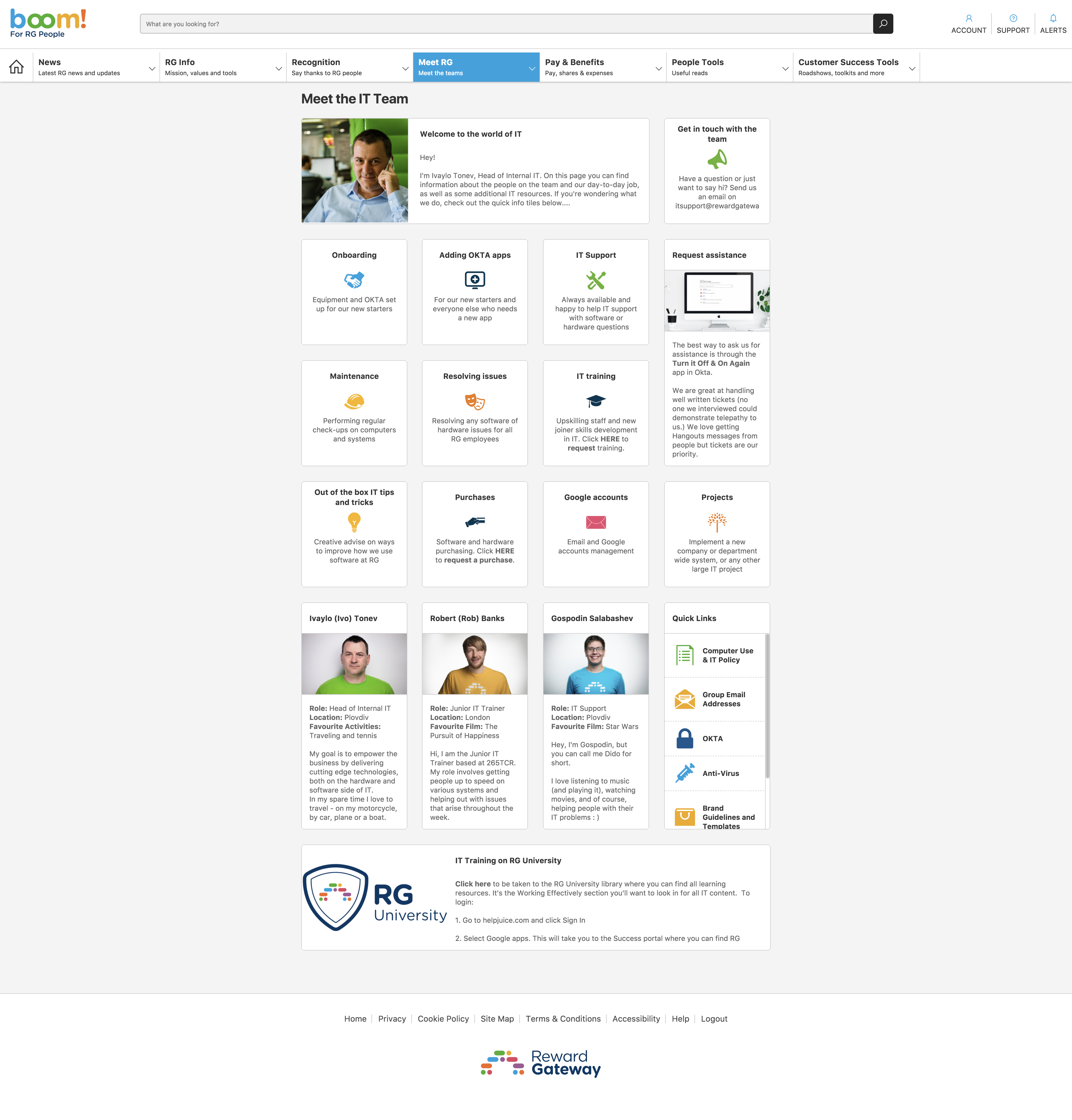 example of employee engagement platform