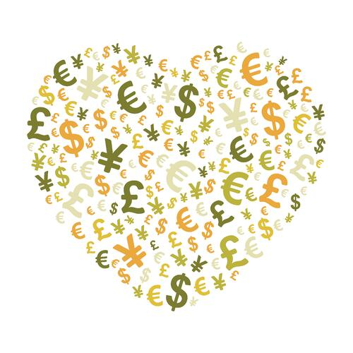 [Heart with multiple currencies]. Employees love getting exclusive discounts