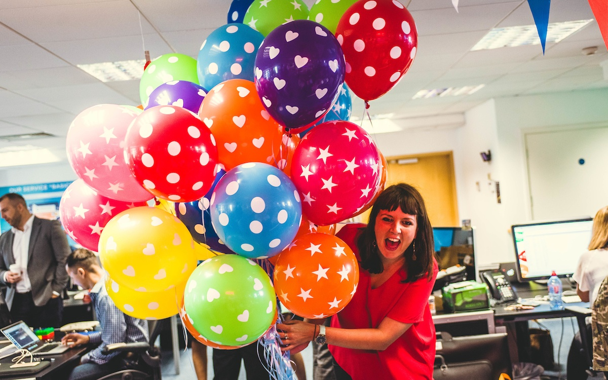 Catrin Lewis and Party Balloons.jpg
