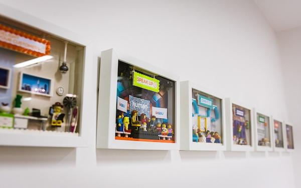 Reward Gateway Values Wall - Lego-1