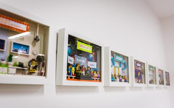 Reward Gateway Values Wall - Lego
