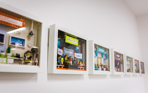 Reward Gateway Values Wall - Lego