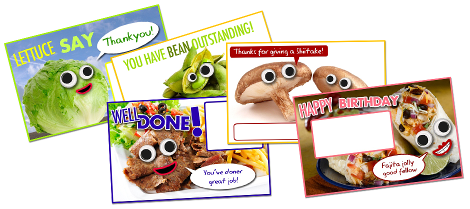 JustEat eCard Collage