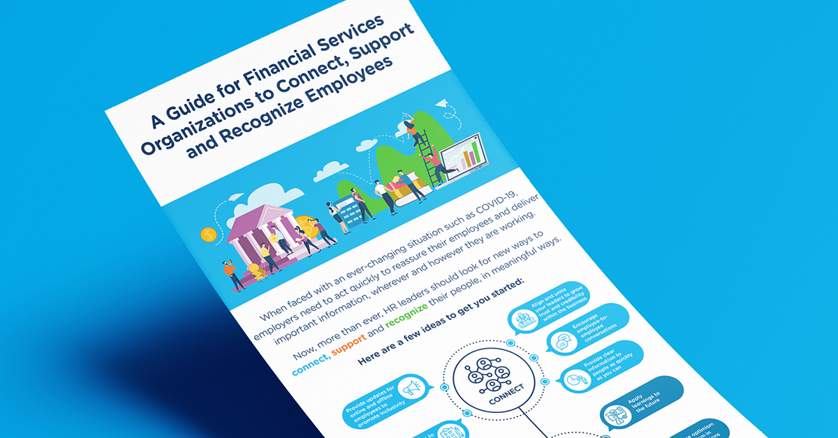 16 ways financial services organizations can connect, recognize and support their people