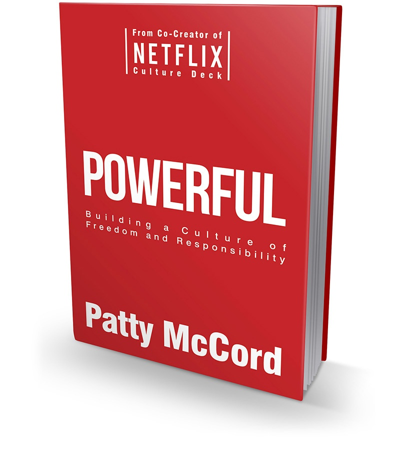 Powerful book cover by patty McCord