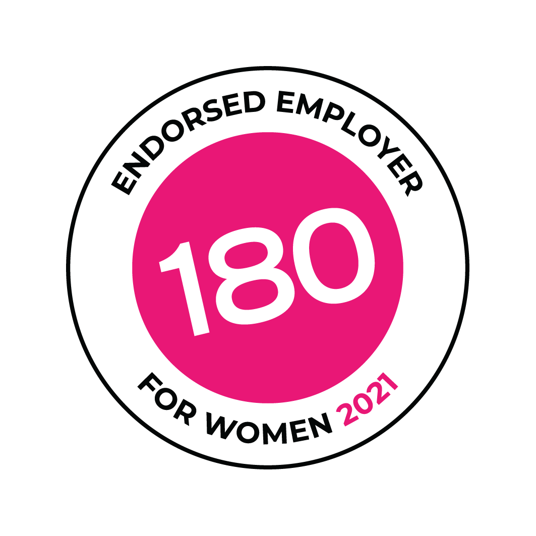 Endorsed Employer for Women by Work180